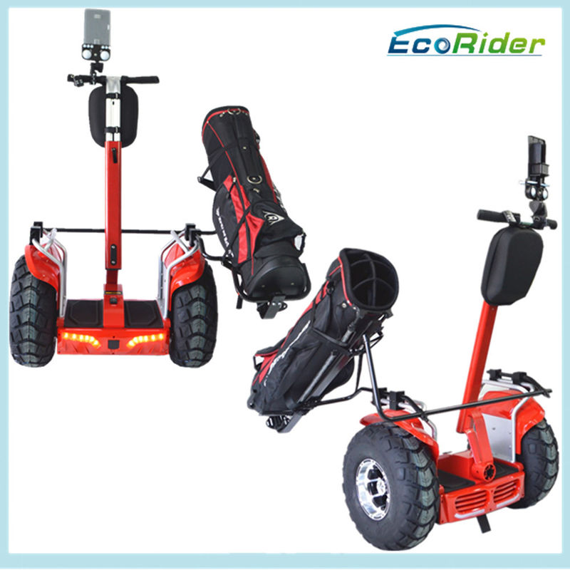 Self Balancing Off Road Segway Golf Scooter 800mm - 1100mm Adjustable Handle