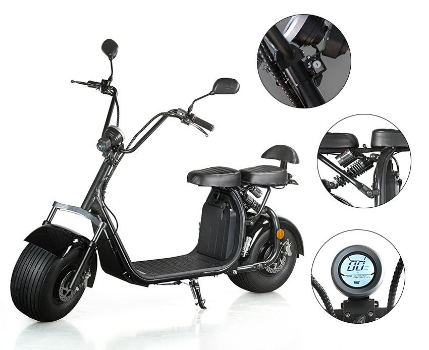 Ecorider Off Road Electric Scooter With 18 inch Two Big Wheels , Double Seat Scooter