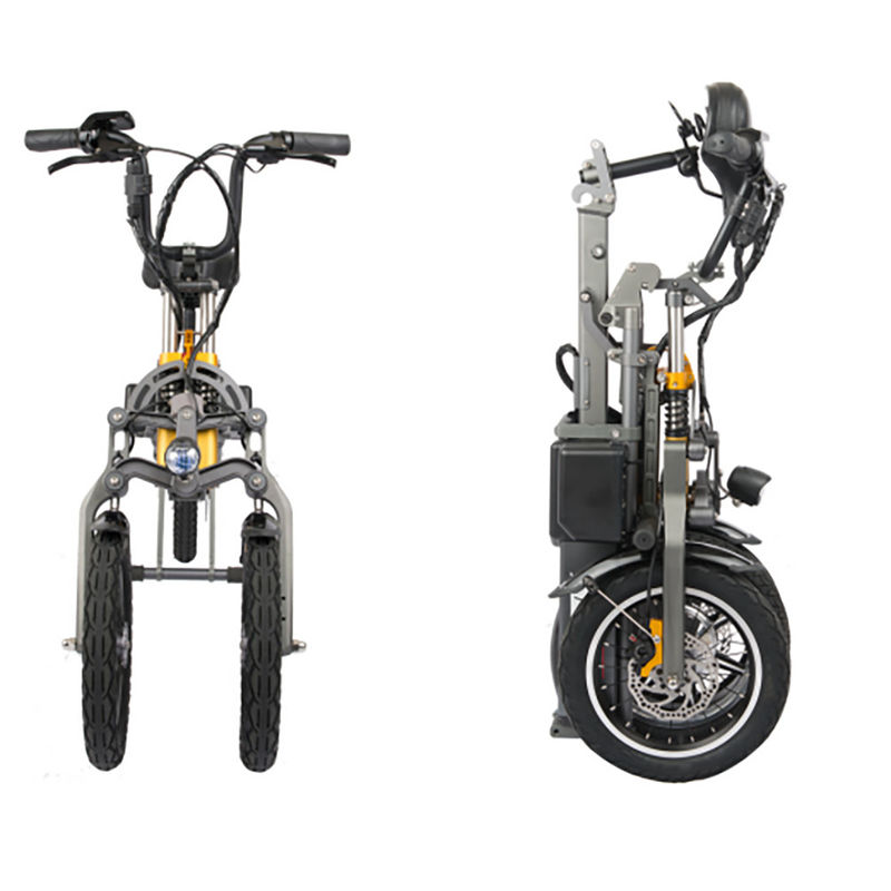 48V 250W Adult Folding Electric Bicycle Three Wheels Lithium 36V 10.4Ah Battery